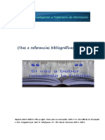 Citas e Referencias Bibliográficas e Webgráficas