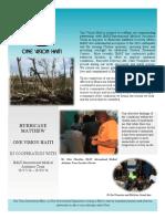 One Vision Haiti October News Letter 2016