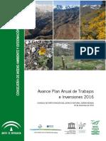 Avance Plan Anual de Trabajos e Inversiones 2016