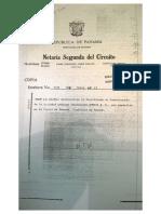 Acta de registro de Omexil S.A. en 1981