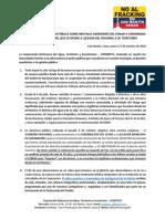 Comunicado de CORDATEC y comunidades de San Martín denuncian brutalidad del ESMAD