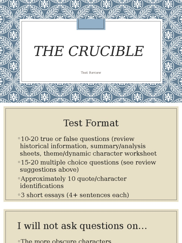 the crucible test review | Witchcraft | Religion And Belief