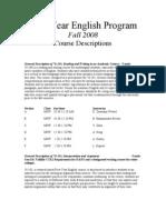CMU First Year English Program