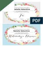 Certificados de Cda Valor Mujeres Jovenes