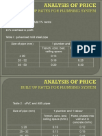 ANALYSIS OF PRICE-PLUMBING BSB512.ppt