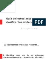 Guía Recomendaciones Clasificación de Evidencias