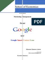 Project-Marketing Management Google