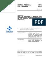 NTC 4073-2014 Cementos. Masa Referencia y Equipos Para Ensayos Físicos
