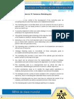 Sentences Marketing Plan