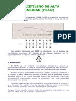 Especificaciones HDPE