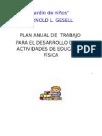Plan Anual Jardin de Niños Alberto z.