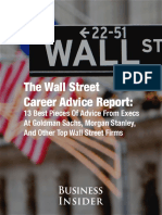 The Wall Street Career Advice Report
