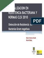 Actualización en Resistencia Bacteriana y Normas CLSI 2010