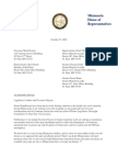 Rep. Davids letter to Governor Dayton and Legislative Leaders