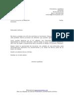 Carta de Presentacion Para Consultora
