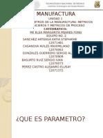 Parametros de Manuf Presentacion de Fong