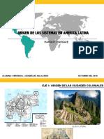 05. Origen de Los Sistemas Urbanos en América Latina