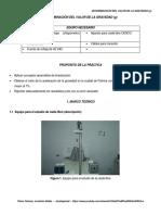 Laboratorio DETERMINACIÓN DEL VALOR DE LA GRAVEDAD (CENCO Chispometro)