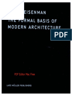 T50 the Formal Basis of Modern Architecture, Peter Eisenman
