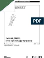 2N5550 25551 - NPN Transistors (Philips)