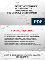 Participatory Governance for Grassroots Empowerment and Sustainable Development