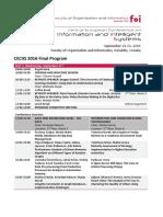 CECIIS 2016 Final Program
