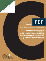 Herramientas para una comprensión amplia de la igualdad sustancial y la no discriminación  CDHDF