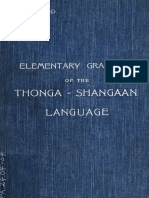 Elementary Grammar of the Tsonga - Shangaan