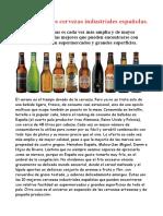 Las 10 Mejores Cervezas Españolas Industriales.
