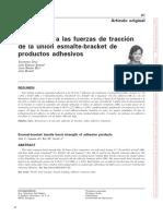 2002 Resistencia a Las Furzas de Traccion de La Union Esmalte-bracket de Productos Adhesivos