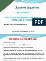 AULA 1 Estatística - FAJ