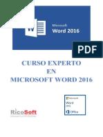 Curso Experto Word 2016
