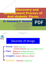 Drug Discovery and Development Process of Anti Diabetic Plants