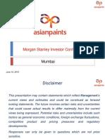 Morgan Stanley Conference Presentation June 2015