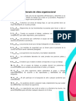 Cuestionario de Clima Organizacional