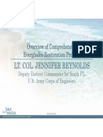 Lt. Col. Jennifer Reynolds - Overview of Comprehensive Everglades Restoration Projects