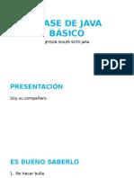 Clase de Java Básico
