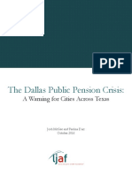 Laura and John Arnold Foundation report on Dallas pensions