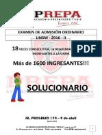 1-Examen de Admision Ordinario 2016-II