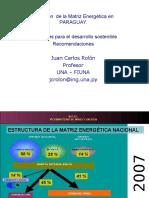 Juan_Carlos_Rolon - Matriz Energética Paraguay