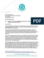 Save Our Springs letter to TCEQ on Dripping Springs permit request
