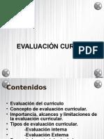 Evaluación Curricular.