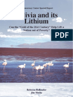 Bolivia and Its Lithium