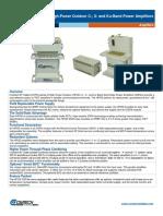 Comtech/EFData HPOD GaAs Amplifier Data Sheet (9/16/2016)