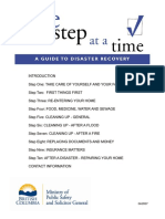 One Step at a Time Guide to Disaster Recovery