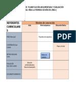 Cuadro de Referentes Curriculares Plan 2011