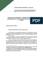 Rodrigo González - Pessoas Ou Instituições - A Influência Das Eleições Presidenciais No Suporte à Democracia