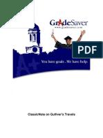 Gullivers Travels GradeSaver ClassicNote