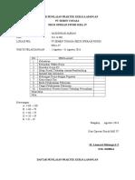 Daftar Penilaian Praktek Kerja Lapangan