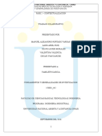 Trabajo Colaborativo Unidad 1 Fundamentos y Generalidades de Investigación.